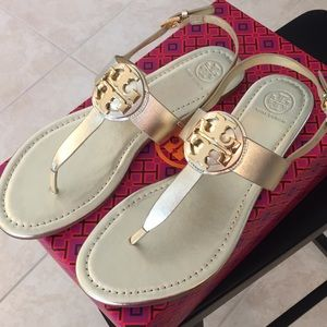 30b0095ed Tory Burch Shoes - Tory Burch Bryce Flat thong Sandal in Spark Gold